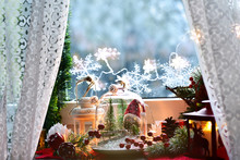 Christmas  Decoration With Win...