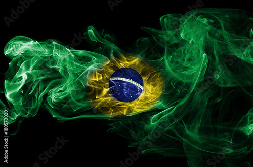 In de dag Brazilië Brazil flag smoke