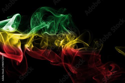 Cuadros en Lienzo Ethiopia national smoke flag