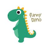 Fototapeta Dino - Cute dino illustration