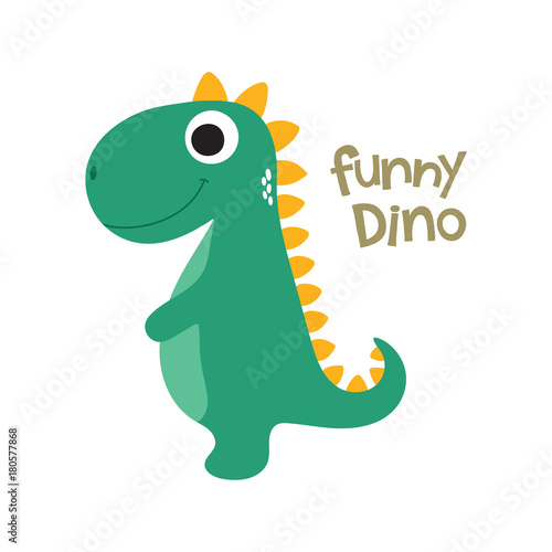 Photo  Cute dino illustration