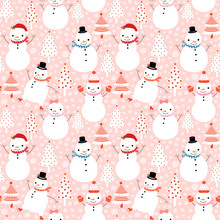 Cute Vector Winter Seamless Pa...