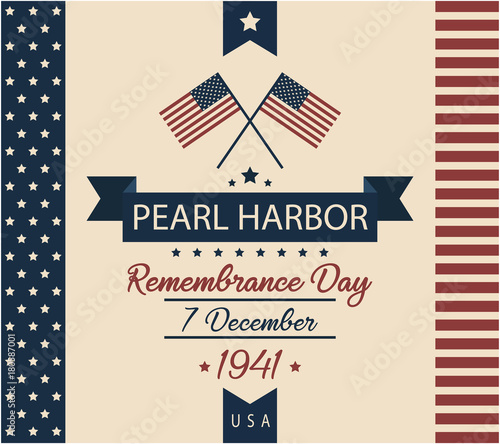 Photo  Pearl Harbor remembrance day card or background