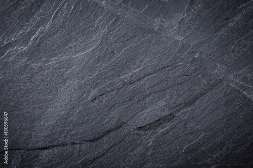 Tuinposter Stenen texture of black slate background