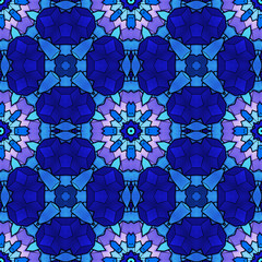 Panel SzklanyAbstract seamless pattern, stained glass, blue, pink, purple color