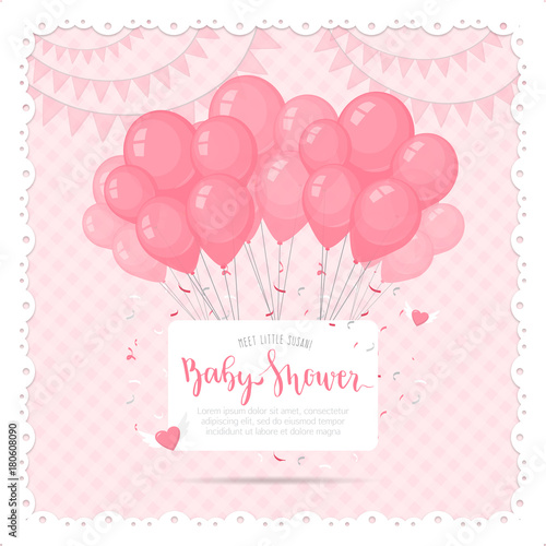 Baby Shower Background For A Girl Buy This Stock Vector And