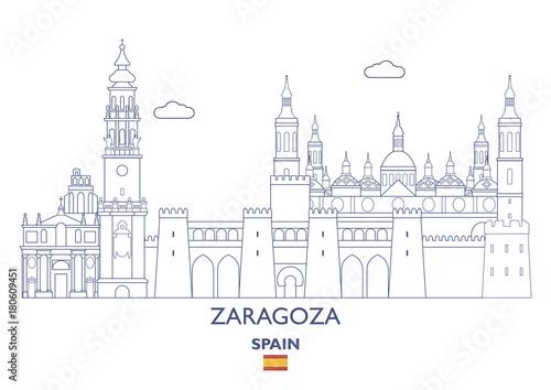Zaragoza City Skyline, Spain