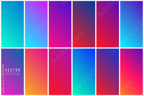Photo  Abstract colorful vector background collection