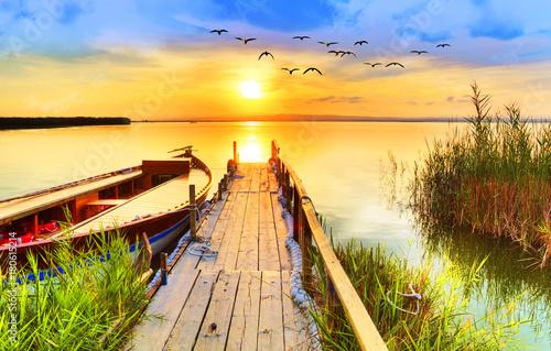 Fotobehang Meloen los colores del lago