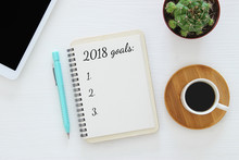 Top View 2018 Goals List With ...