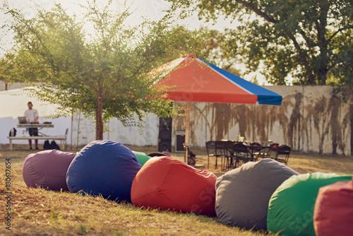 Bean bag chairs outdoor Canvas Print