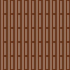 Monochrome striped background. Geometric print for fabric in brown tones. Vector illustration.