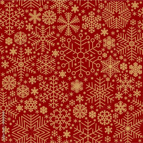 Cotton fabric Seamless vector snowflake