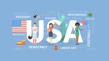 USA Concept Illustration.