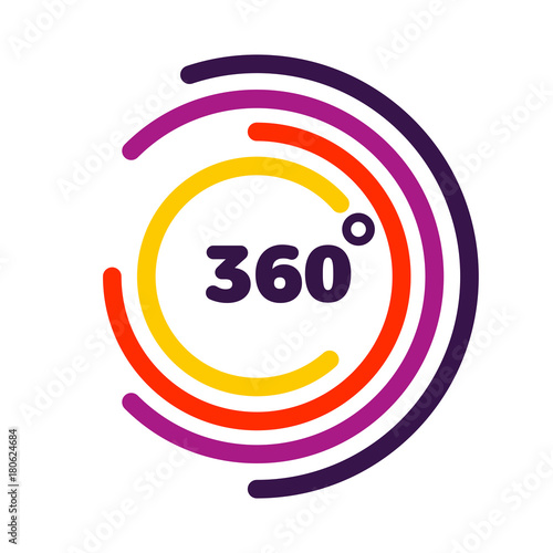 Papel de parede 360 degrees view Related Vector graphic element that can be used as a logo or icon for your Design