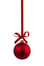 Red Christmas Bauble Hanging O...