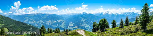 Aluminium Prints Blue zillertal mountains