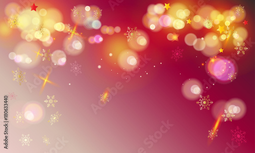defocused lights effect wallpaper for happy new year and christmas