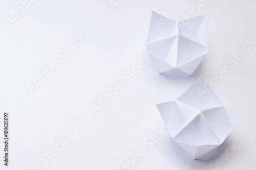 Fotografie, Obraz back of origami fortune tellers on white background