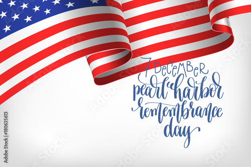 7 december pearl harbor remembrance day calligraphy poster Poster