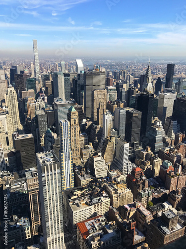 Foto op Aluminium New York Bird eye view of New York City, Manhattan, USA