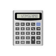 Realistic calculator isolated on white background. Vector EPS10 illustration.