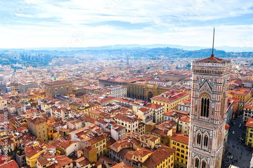 Obraz na dibondzie (fotoboard) panoramiczne widoki Florencji średniowiecznego miasta, Włochy