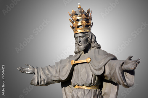 Poster Monument Statua, pomnik Chrystusa, Jasna Góra, Częstochowa