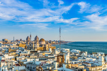 Aerial Skyline View To Cadiz - Spain