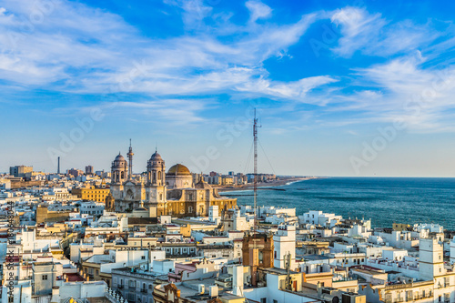 Aerial skyline view to Cadiz - Spain