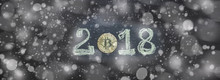 Happy New Year 2018 Cryptocurrency Bitcoin Trend Richness Concept