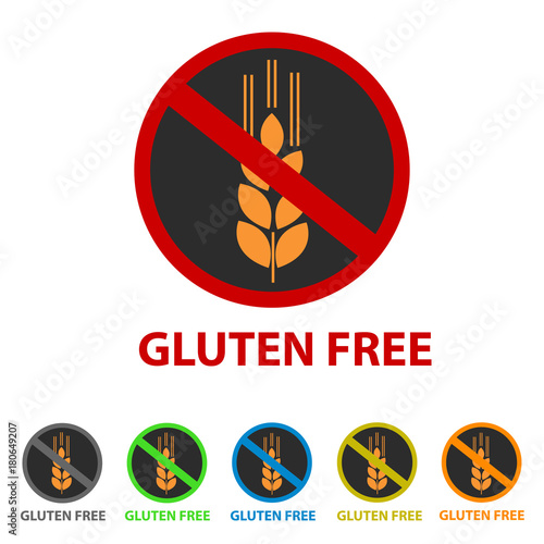 Gluten Free Icon - Different Colors - Buy this stock vector