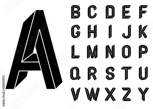 Fotografía  Impossible Geometry letters
