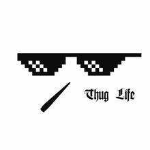 Pixel Art Glasses. Thug Life M...