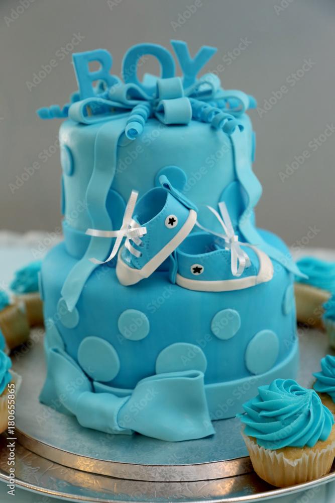 Baby Shower Boy Birthday Cake Foto Poster Wandbilder Bei EuroPosters