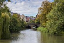 River Leam Flowing Through Jep...