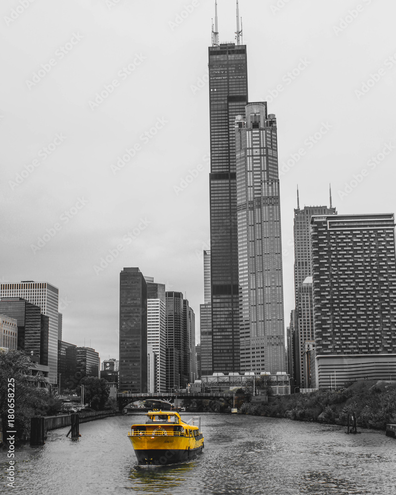 Fototapeta Chicago Taxiboat