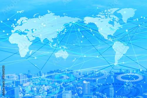 Fototapeta 世界のネットワークイメージ obraz