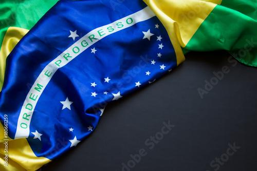 Plakat Flaga brazylijska z miejscem na tekst