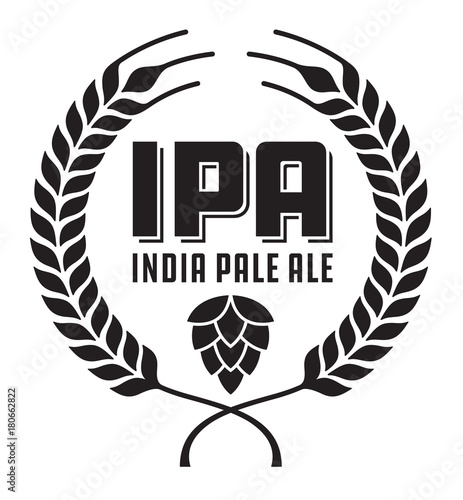 IPA or India Pale Ale Badge or Label фототапет