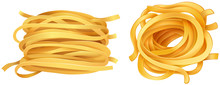 Pasta Noodles On White Backgro...