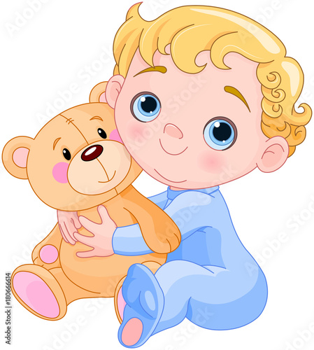 Poster Magie Creeping Baby & Teddy Bear