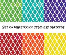 Set Of Watercolor Geometric Ba...