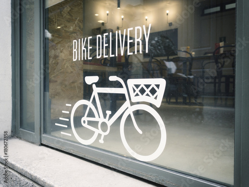 bike delivery concept on urban showcase
