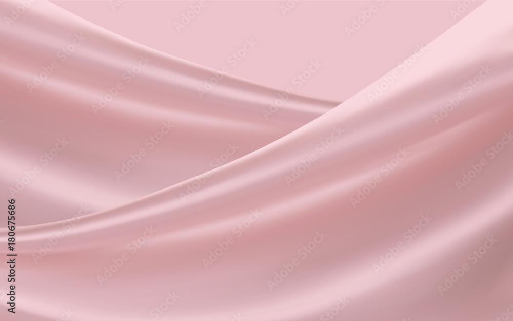 Fotografie, Obraz Smooth pink satin