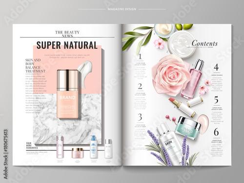 Cosmetic magazine template Canvas-taulu