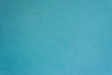 Texture Of A Painted Turquoise Concrete Wall