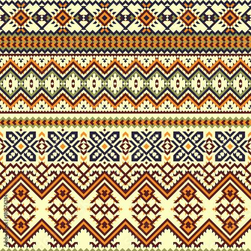 Aluminium Prints Boho Style Ethnic colorful seamless pattern.