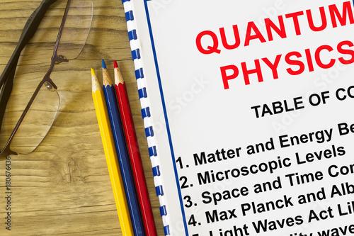 Quantum physics definition concept Canvas Print