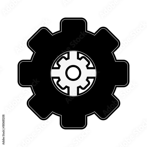 Gear machinery piece icon vector illustration graphic design Fototapete
